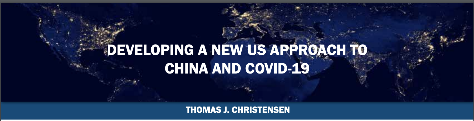 Developing a new US approach to China and COVID-19